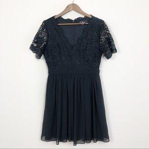 Lulu's Angel in Disguise Black Lace Dress 57